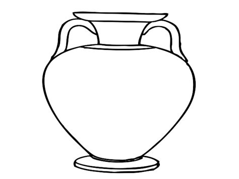 vase clipart black and white vase template cliparts co