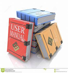 User Manual Books Stock Illustration  Illustration Of