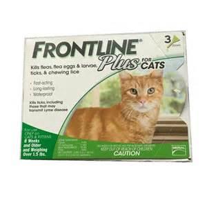 frontline plus for cats frontline plus for cats 3 pack chickadee solutions