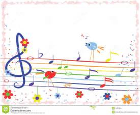 Colorful Music Notes Borders Frames
