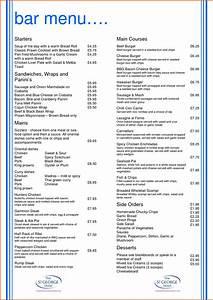 free drink menu template portablegasgrillwebercom With bar and grill menu templates