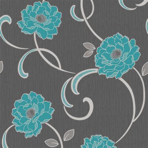teal and gray wallpaper wallpapersafari