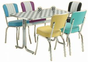 American Diner Tisch : retro k chenst hle nabcd ~ Frokenaadalensverden.com Haus und Dekorationen