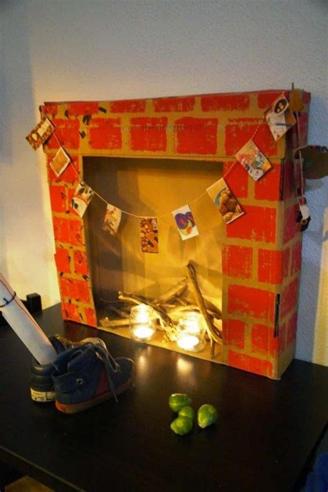 How To Make A Fake Christmas Fireplace  Fireplace Designs