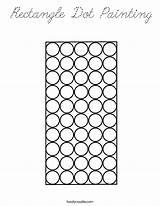 Rectangle Coloring Dot Painting Cursive Built California Usa Print sketch template