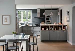 Idee deco cuisine ouverte sejour cuisine en image for Idee deco cuisine avec meuble salle a manger complete moderne pas cher