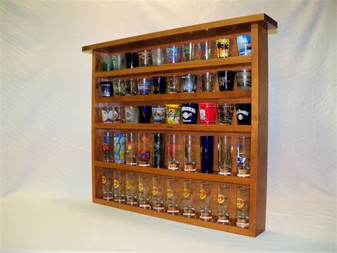 Add A Shelf To A Cabinet by Cherry 50 Shot Glass Display Case With Cherry By Canudiggit