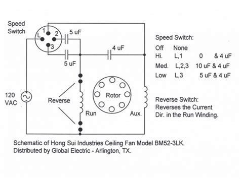 Ceiling Fan Internal Wiring Diagram Hunter