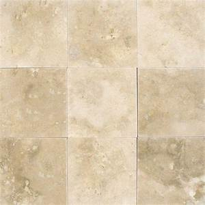 MS International Ivory 4 in. x 4 in. Honed Travertine ...