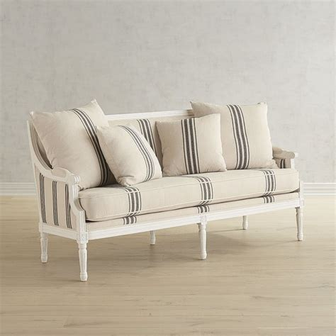 Pier 1 Settee by White Settee 1 500 Joanna Gaines Furniture At