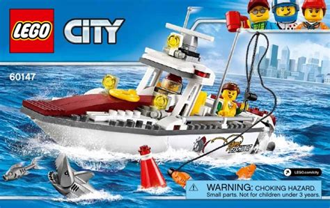 Lego Batman Boat Instructions by Lego Fishing Boat Instructions 60147 City