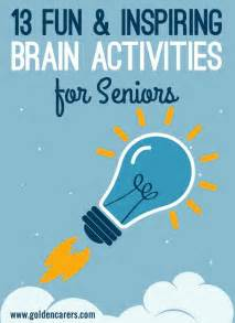fun brain activities  seniors brain activities