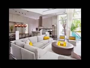 decoration salon ouvert sur la cuisine youtube With deco salon ouvert sur cuisine
