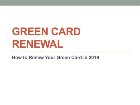Maybe you would like to learn more about one of these? Green Card Renewal Tips and Pointers by Yorus Russo - Issuu