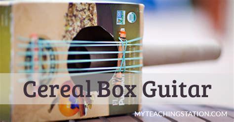 simple cereal box guitar  kids