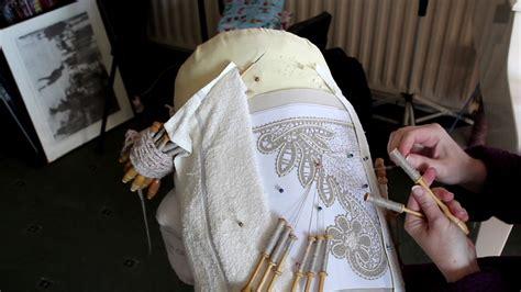 asmr  lace making russian bobbin lace relaxing