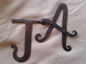 hand crafted handforged letters by the makers of hand With custom made letters