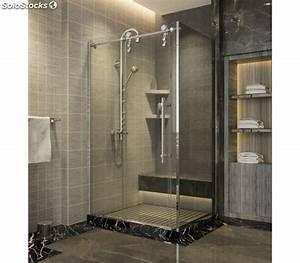 paroi de douche avec porte coulissante range sharp With porte d entrée alu avec douche pour petite salle de bain