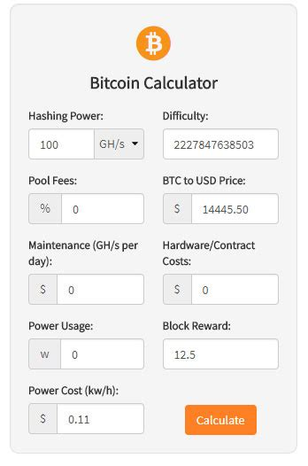 bitcoin mining roi calculator cryptocurrency mining calculator widgets for
