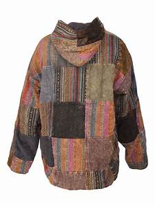 Gheri Patchwork Jacket- Hooded and Fleece-lined Karma Gear