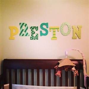 hand painted wooden letters for the nursery nursery With painted wooden letters nursery