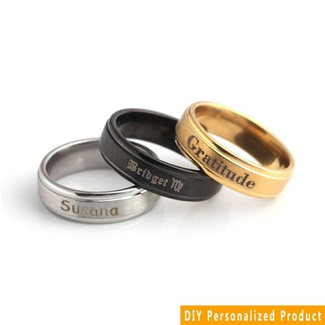 personalized custom engraved name date couples promise wedding ring gift sz6 12 ebay