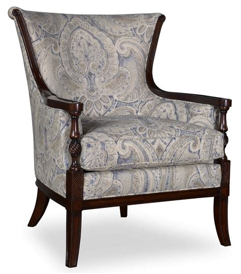a r t furniture bristol wood trim carved accent chair