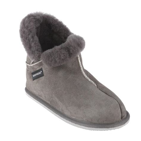 mens sheepskin slippers boots  hard sole shepherd