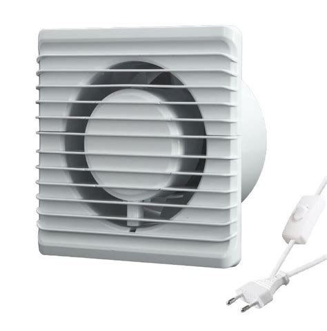 Silent Bathroom Extractor Fan With Cable Plug