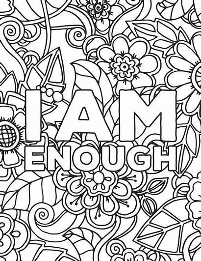 Coloring Adult Printable Positive Quotes Adults Pdf
