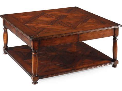 square farmhouse coffee table jonathan charles country farmhouse dark walnut 42 square