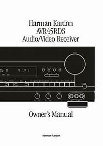 Harman Kardon Avr 45  Serv Man16  User Guide    Operation