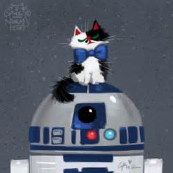 wars cats disney artists illustrate wars characters nuzzling up