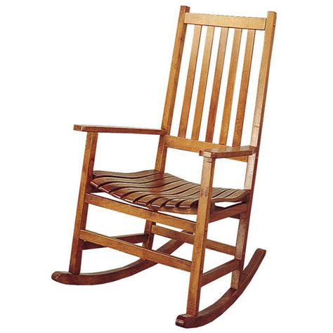 Porch Rocking Chair Plans by Light Oak Wood Casual Traditional Comfortable Porch Rocker