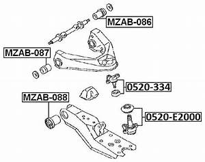 Ball Joint Front Lower Arm For Mazda E2000 Sk  1999