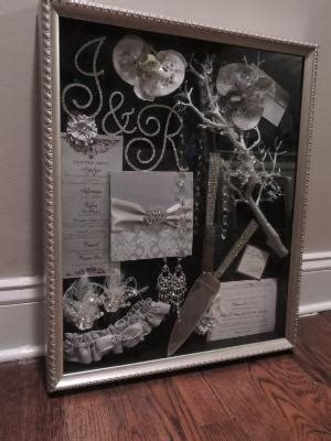 wedding flowers invitations announcements  shadow box
