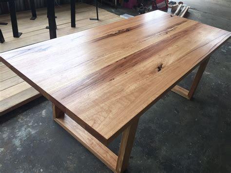 details handmade blackbutt hardwood dining table