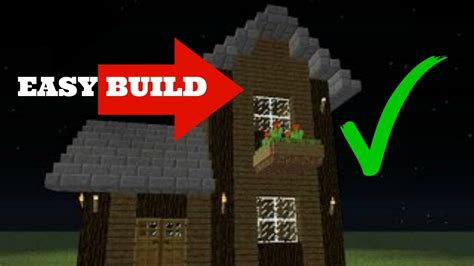 build  simple  story survival house  minecraft tutorial hd youtube