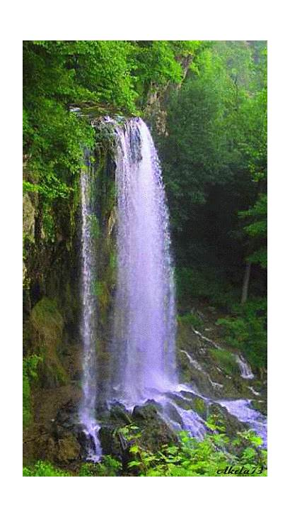 Nature Waterfall Waterfalls Animated Places Landscapes Scenic