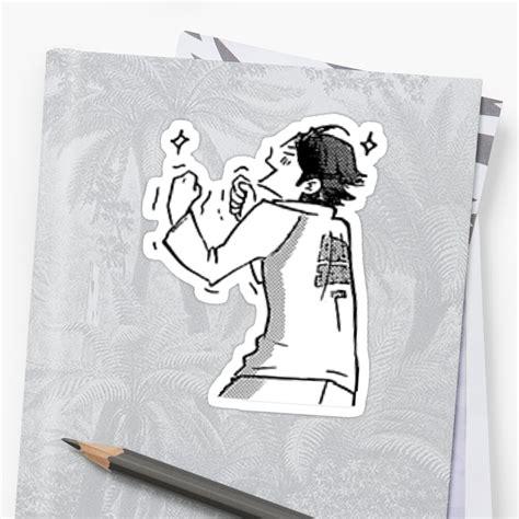 haikyuu oikawa tooru sticker by draweedraws redbubble