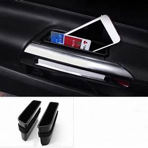 2pcs Front Door Storage Box Car Interior Accessories For Ford Mustang 2015 2016 2017 2018 Car ...
