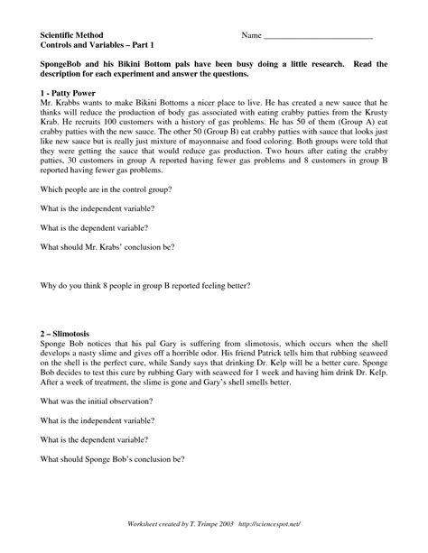 12 Best Images Of Scientific Method Worksheet Answer Key  Scientific Method In Action Worksheet