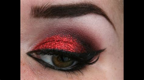 red glitter makeup tutorial youtube