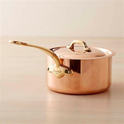 mauviel copper saucepan   qt mauviel copper cookware copper