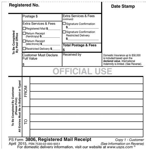 registered letter usps  letter postal office certified