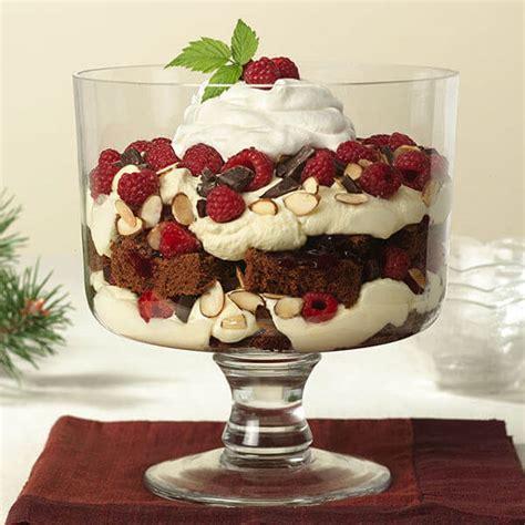 chocolate raspberry trifle recipe land olakes