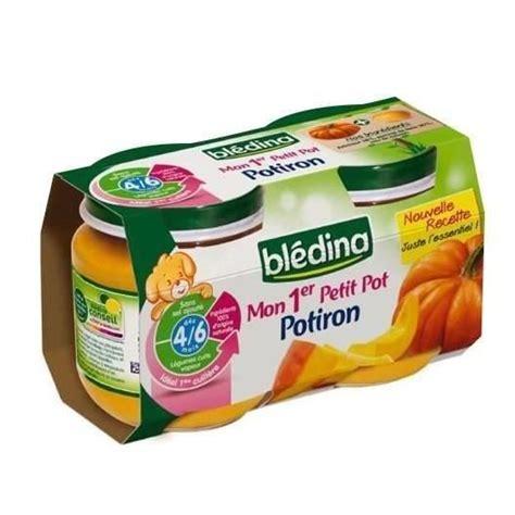 bledina mon 1er petit pot potiron 2x130g achat vente dessert fruits b 233 b 233 bledina mon 1er