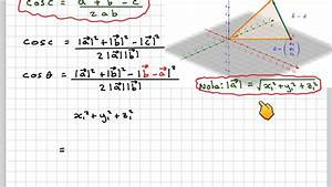 Find The Angle Between The Vectors The Angle Between Two Vectors And Proof Of The Scalar