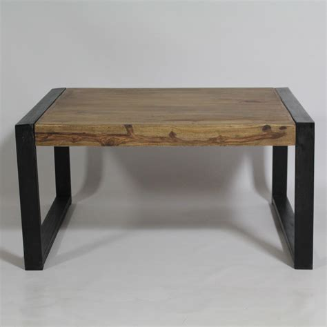table bois industriel table basse industrielle carr 233 e en bois de palissandre made in meubles