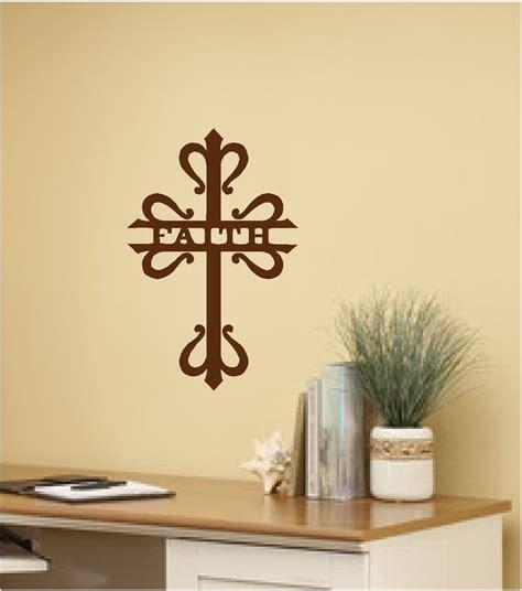 faith cross wall sticker wall art decor vinyl decal